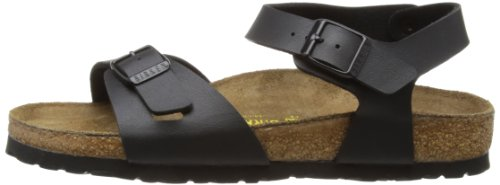 Image of the Birkenstock Womens Rio Black Synthetic Sandals 40 EU