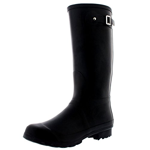 Image of the Mens Original Tall Plain Fishing Garden Rubber Waterproof Wellingtons - 11 - BLA44 BL0180