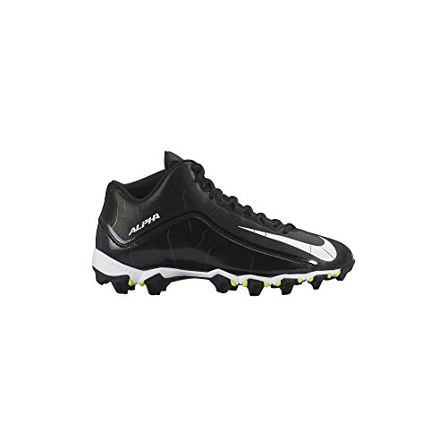 Image of the Nike Men's Alpha Shark 2 Three-Quarter Wide Black/Anthracite/White Football Cleat - 11 2E US