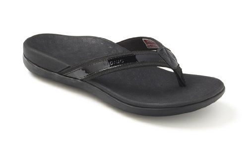 Image of the Orthaheel Women's Tide Thong Sandals (10,Black)