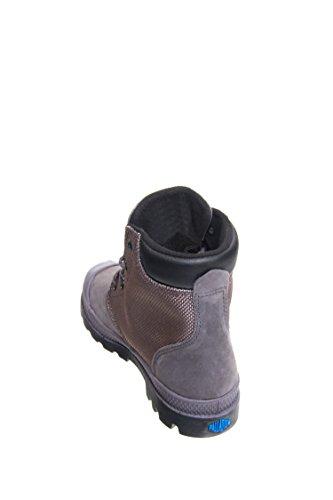 Image of the Palladium Kids Boy's Pampa Hi Cuff WPN (Little Kid) Rabbit/Black Boot 1 Little Kid M