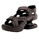 Image of the Z-CoiL Women's Sidewinder Black Sandal 7 C/D US