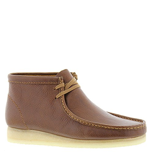 Image of the Clarks Men's Wallabee Boot Tan Tumbled Leather Boot
