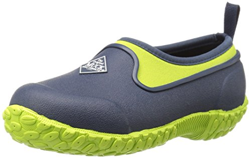 Image of the Muck Boot Kids' Muckster II-Low Pull-On Boot, Navy/Green, 4 M US Big Kid