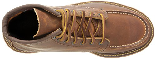 Image of the Red Wing Heritage Men's Classic 1907 6-Inch Moc Toe Boot,Copper Rough & Tough,10.5 D US