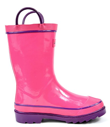 Image of the arctiv8 Toddler Harley Pink Gross Ruber Ankle Rain Boots - 10 M US Toddler