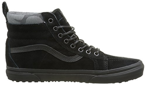 Image of the Vans V00XH4JUB Unisex SK8-Hi MTE Skate Shoes, Black/Black/Camo, 9.5 B(M) US Women/8 D(M) US Men