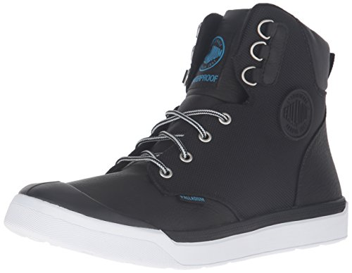 Image of the Palladium Men's Pallarue Hi Cuff WP Rain Boot, Black, 8 M US