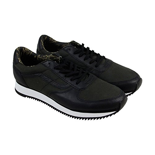 Image of the Vans Runner Suiting Black/White Sneakers (11.5 Mens)