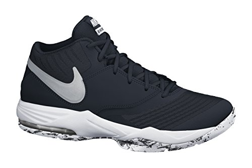Image of the NIKE Men's Air Max Emergent Basketball Shoe Black/White/Anthracite/Metallic Silver Size 13 M US