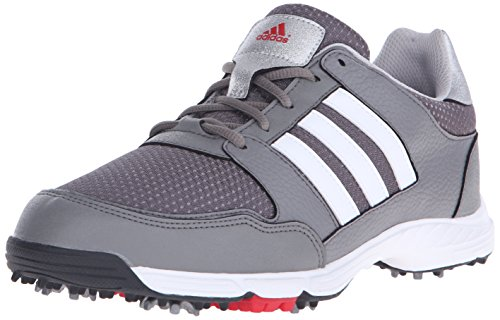 Image of the adidas Men's Tech Response 4.0WD Golf Cleated, Iron Metallic/Ftwr White/Core Black, 8.5 W US