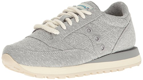 Image of the Saucony Originals Women's Jazz Original Fashion Sneaker, Grey/Green, 7.5 M US