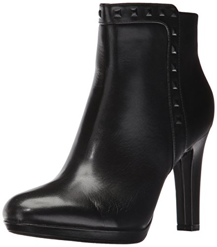 Image of the Rockport Women's Seven To 7 Ally Stud Bootie Boot, Black Leather, 9 M