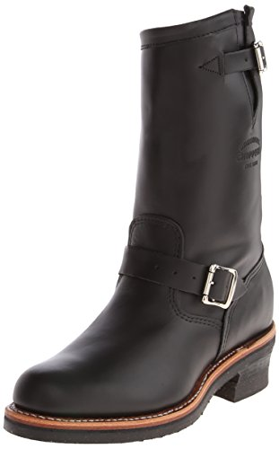 Image of the Original Chippewa Collection Men's 1901M48 11 Inch Engineer Boot, Black Whirlwind, 11.5 E US