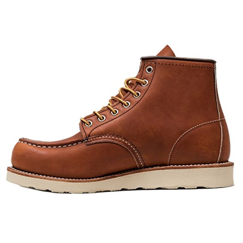 Image of the Red Wing Heritage Women's 6 inch Moc-W Work Boot, Oro Legacy, 8.5 B US
