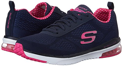 Image of the Skechers Sport Women's Skech Air Infinity Fashion Sneaker,Navy/Pink,8 M US