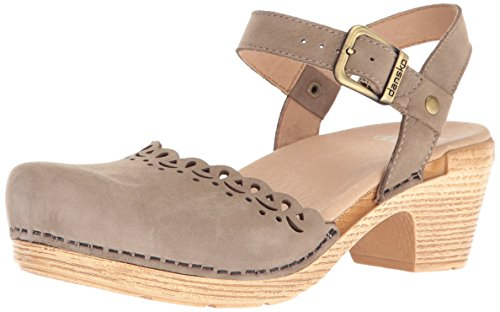 Image of the Dansko Women's Marta Flat Sandal, Taupe Milled Nubuck, 36 EU/5.5-6 M US