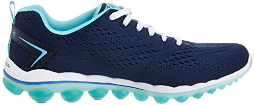 Image of the Skechers Sport Women's Skech Air Aim High Fashion Sneaker,Navy Mesh/Light Blue Trim,6.5 M US