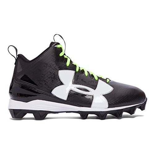 Image of the Under Armour Mens UA Crusher RM Wide Football Cleats 11.5 Black