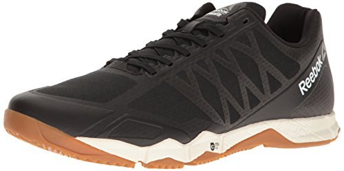 Image of the Reebok Men's Crossfit Speed TR Cross-Trainer Shoe, Black/Ash Grey/Classic White/Rubber Gum/Pewter, 11.5 M US