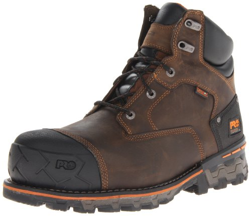 Image of the Timberland PRO Men's Boondock 6 Inch Waterproof Non-Insulated Work Boot,Brown Oiled Distressed,11 M US