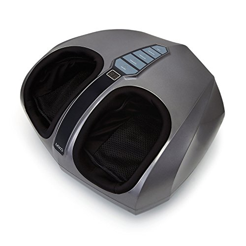 Image of the Miko Shiatsu Foot Massager With Deep-Kneading, Multi-Level Settings, And Switchable Heat Charcoal Grey
