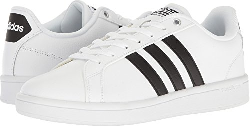 Image of the adidas Men's Cloudfoam Advantage Sneakers, White/Black/White, (9.5 M US)