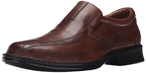 Image of the Clarks Men's Escalade Step Slip-on Loafer- Brown Leather 11 D(M) US