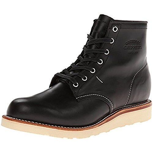 Image of the Original Chippewa Collection Men's 1901M15 6 Inch Plain Toe Boot, Black Whirlwind, 8 D US