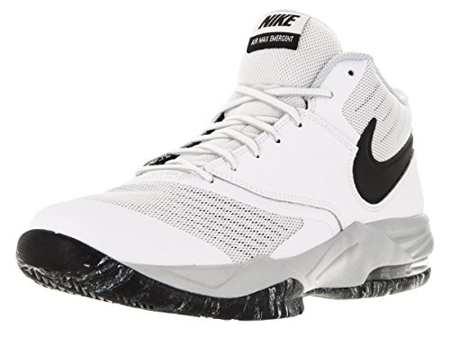 Image of the Nike Men's Air Max Emergent White/Blck/Mtllc Slvr/pr Pltnm Basketball Shoe 8.5 Men US