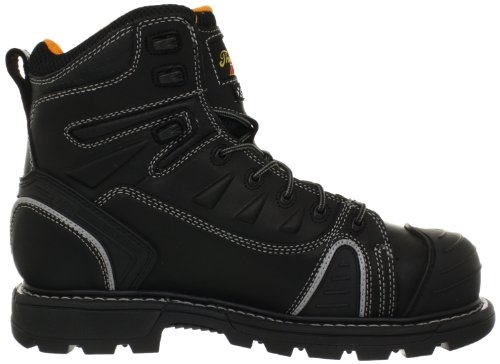 Image of the Thorogood Gen-Flex 6-Inch Lace-Toe Composite Work Boot, Black Leather, 11 M US