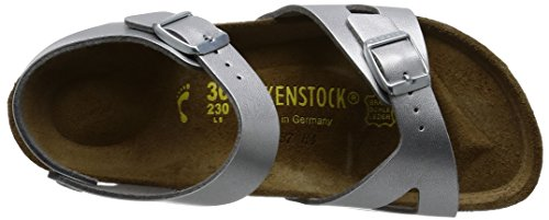 Image of the Birkenstock Women´s Rio Silver synthetic Sandals 38 N EU N 731483