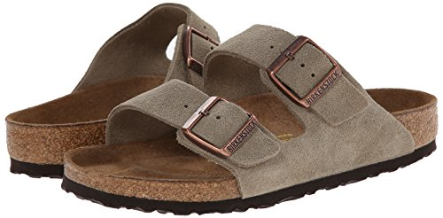 Image of the Birkenstock Arizona Taupe Suede Regular Width