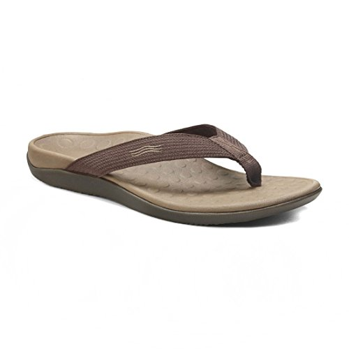 Image of the Vionic Unisex Wave Toe Post Sandal, 11 B(M) US Women / 10 D(M) US Men, (Chocolate)