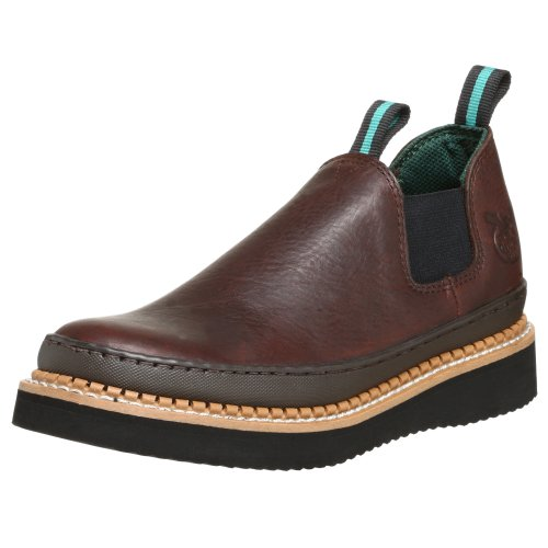Image of the Georgia Boot Men's GR274 Giant Romeo Work Shoe, Soggy Brown, 13 M US