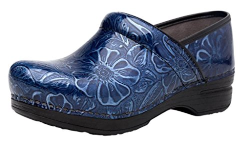 Image of the Dansko Women's Pro XP Clog, Navy Tooled Patent, 41 M EU (10.5-11 US)