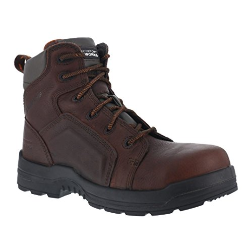 Image of the Rockport Work Men's RK6640 Work Boot,Brown Leather,11 W US