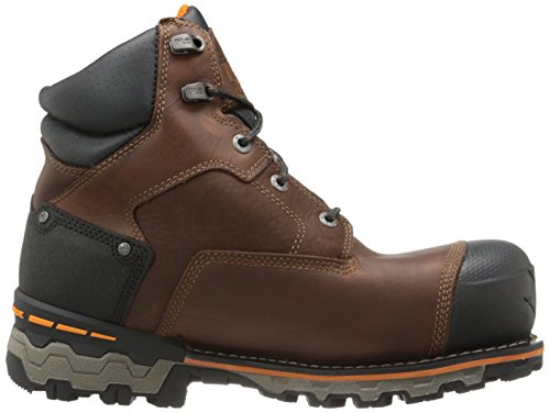 Image of the Timberland PRO Men's 6 Inch Boondock Comp Toe Waterproof Insulated Industrial Work Boot,Brown Tumbled Leather,12 W US