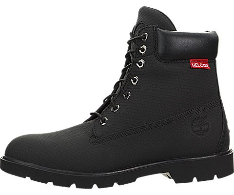 Image of the Timberland Mens 6-Inch Helcor« Leather Basic Waterproof Black Leather Boot - 10 M