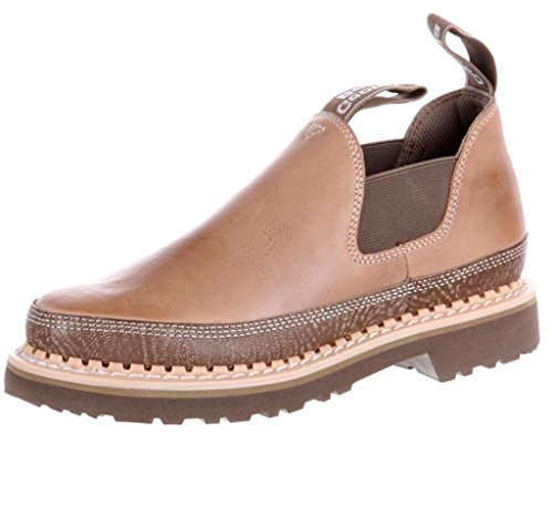 Image of the Georgia Women's Romeo Steel Shank Casual Loafers, Taupe, Leather, Mesh, 8 M
