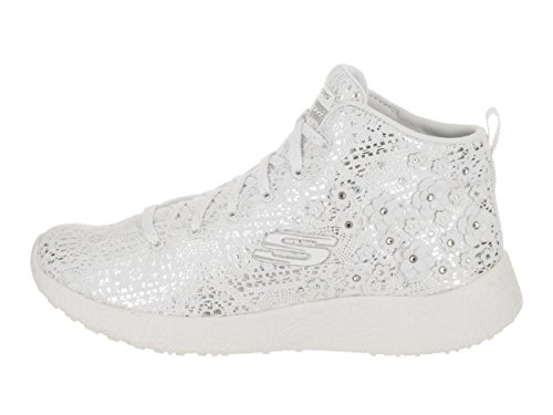 Image of the Skechers Women's Burst - Seeing Stars White/Silver Casual Shoe 9 Women US