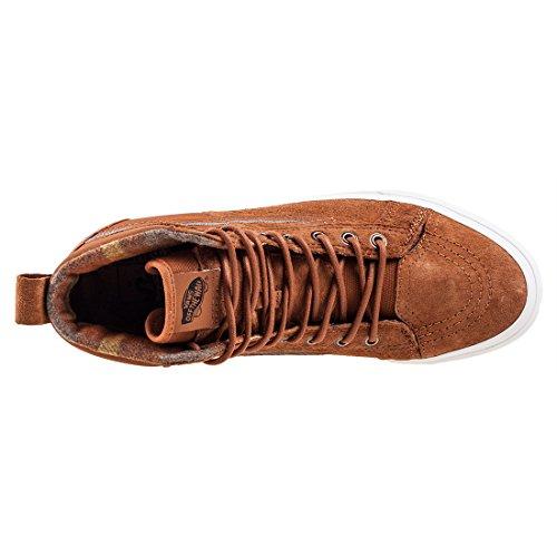 15760a2d154d Image of the Vans Unisex SK8-Hi 46 MTE DX Glazed Ginger Flannel Sneaker