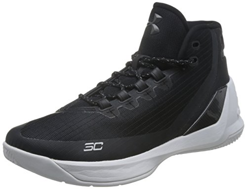 Image of the Under Armour Men's Curry 3 Basketball Shoe Black/White Size 10 M US