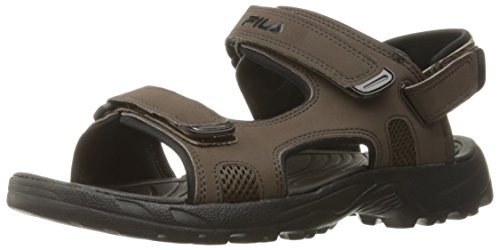 Image of the Fila Men's Transition Athletic Sandal, Espresso/Black, 12 M US