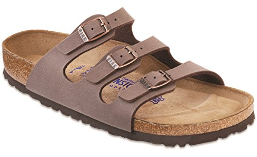 Image of the Birkenstock Women's Florida Soft Footbed Mocha Birkibuc Sandal 43 R (US Women's 12-12.5)