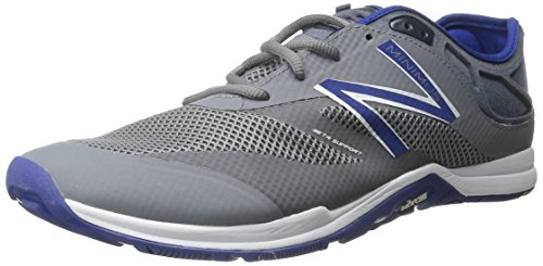 Image of the New Balance Men's 20v5 Minimus Training Shoe, Grey/Blue, 10 D US