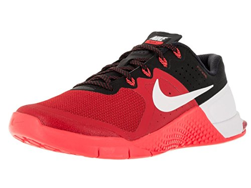 Image of the Nike Mens Metcon 2 Synthetic Trainers Umvrsty Rd/Wht/Brght Crmsn/Blc (10)