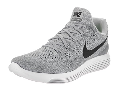 Image of the NIKE Men's Lunarepic Low Flyknit 2 Wolf Grey/Black/Cool Grey Running Shoe 10 Men US