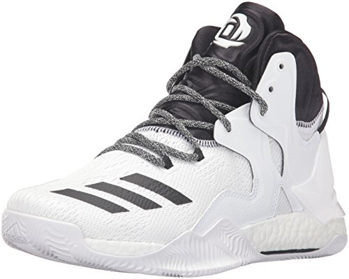Image of the adidas Performance Men's Shoes | D Rose 7 Basketball, White/Black White, (12.5 M US)