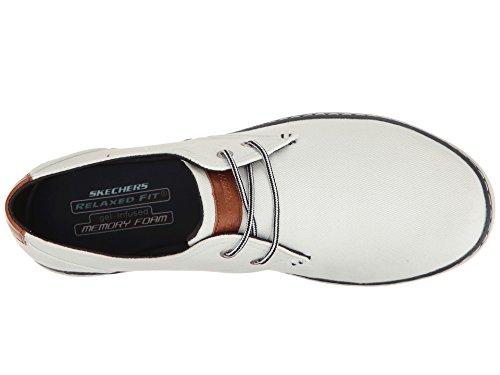 Image of the SKECHERS Men's Relaxed Fit Palen - Gadon White Canvas 9 D US